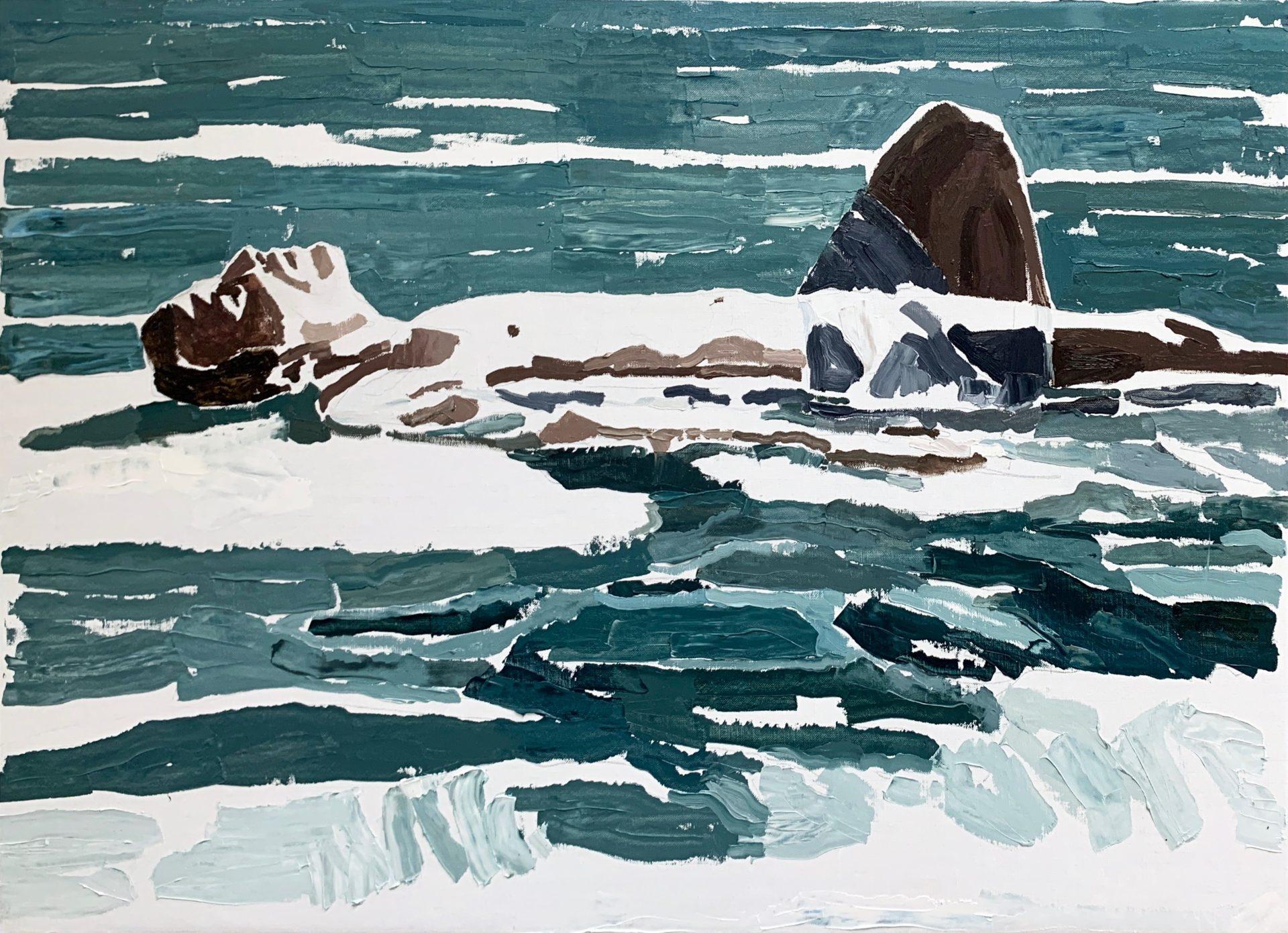 Man Laying (Water)